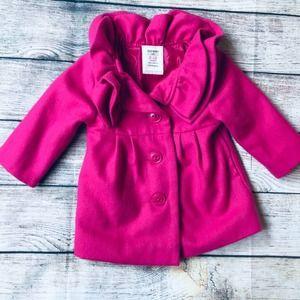 Old Navy 6-12m Pink Pea Coat